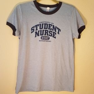 Student Nurse Graphic Tee T-Shirt by Bella
